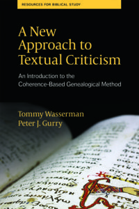 A New Approach to Textual Criticism cover