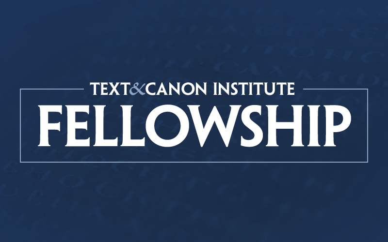 Text and Canon Institute Fellowship logo
